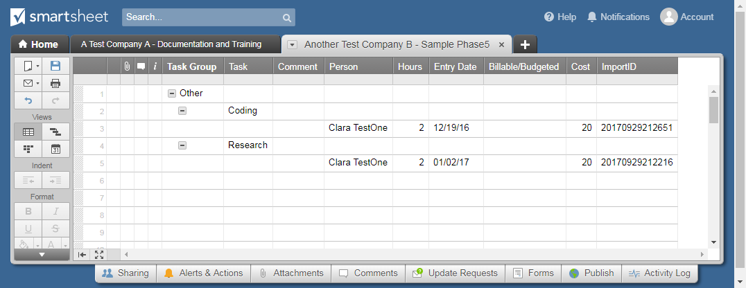 Smartsheet Time Tracking | ClickTime