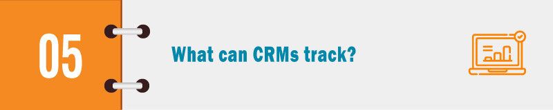 What can CRMs track banner