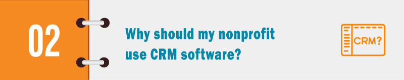 Why should my nonprofit use CRM software banner