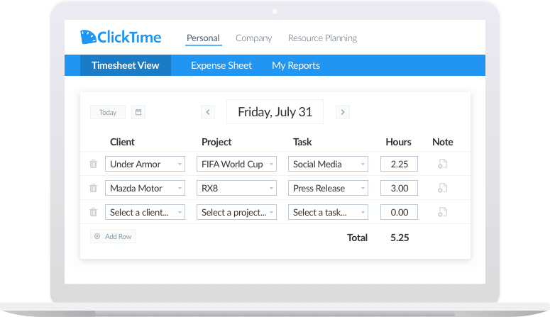 QuickBooks Desktop Time Tracking | ClickTime